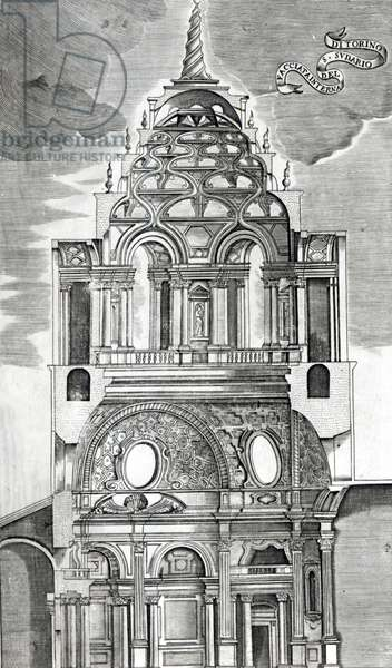 Architectural Illustration, from 'Architettura Civile', 1737 (engraving) (b/w photo)