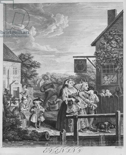 Times of the Day, Evening, 1738 (engraving)