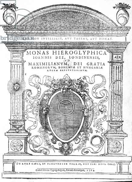 Frontispiece from 'Monas Hieroglyphica' by John Dee, published in 1564 (print)