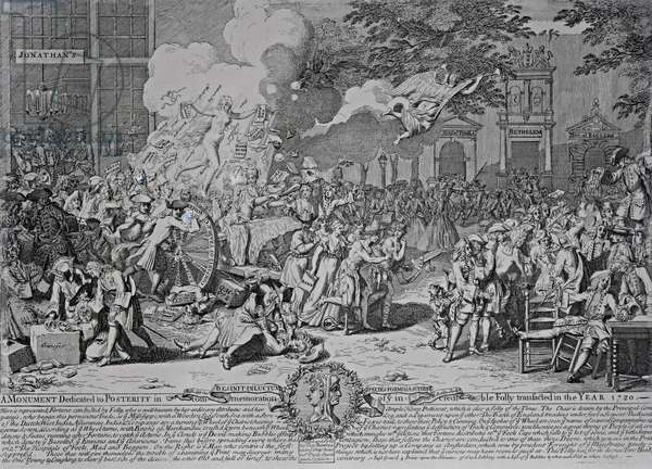 A Monument dedicated to Posterity, 1720 (engraving) (b/w photo)