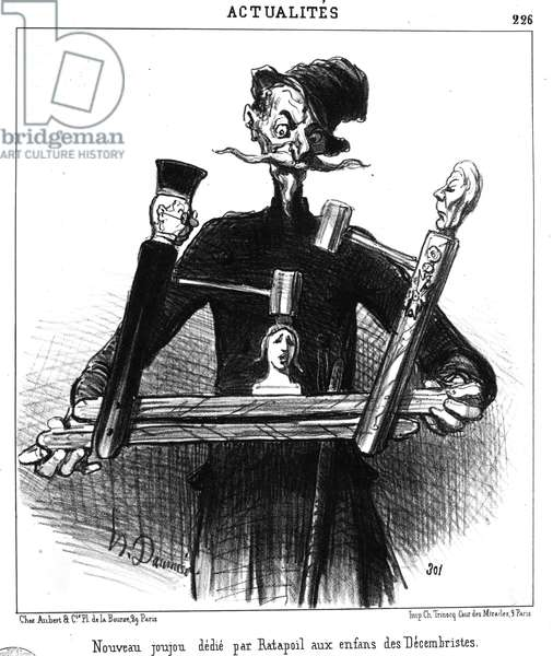'New toy presented by Ratapoil to the children of the Decembrists', from 'Le Charivari', 16 October, 1851 (litho)