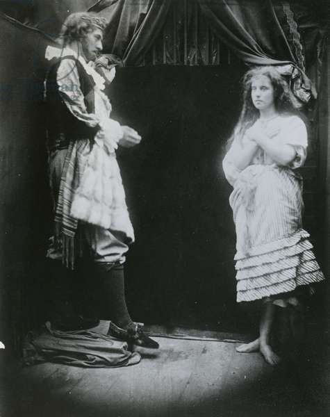 King Cophetua and the Beggar Maid, an illustration from 'The Beggar Maid' by Alfred, Lord Tennyson, 1875 (albumen print)