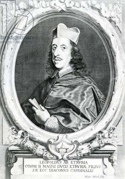 Cardinal Leopold de Medici (1617-1675), 1741 (engraving)