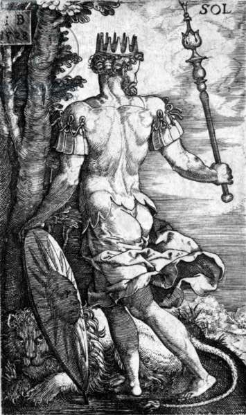 Sol, printed by Georg Pencz, 1529 (engraving)