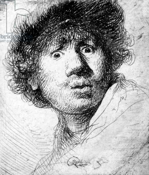 Self Portrait, 1630 (etching)