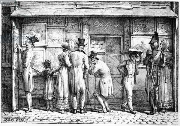 Delpech's Lithographic Print Shop, c.1818 (litho)
