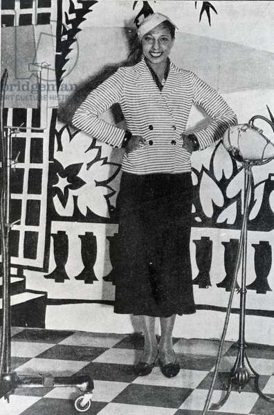 Josephine Baker, 1948 (b/w photo)