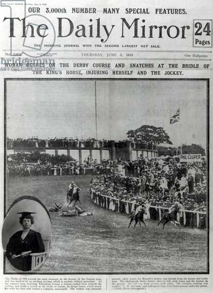 Front cover of 'The Daily Mirror', 5th June 1913 (litho) (b/w photo)