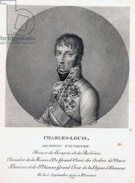 Archduke Charles of Austria, Duke of Teschen, c.1814 (engraving)