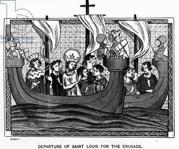Departure of St. Louis for the Crusade (engraving)