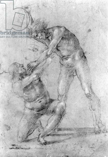 Study for the Massacre of the Innocents (chalk on paper)
