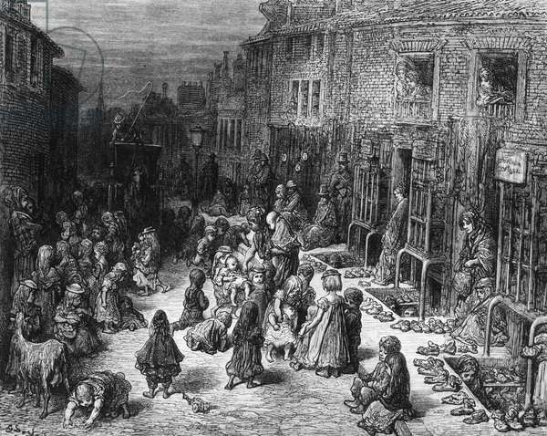Dudley Street, Seven Dials, from 'London: A Pilgrimage', 1872 (engraving)