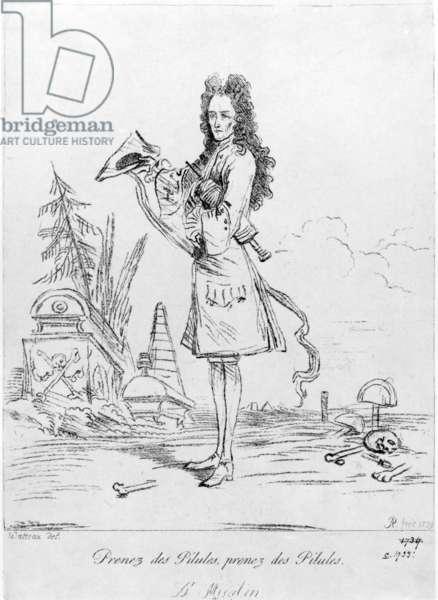 Prenez des pilules, prenez des pilules - Dr. Misabin, 1739 (etching)