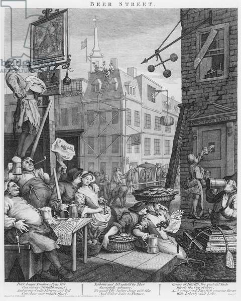 Beer Street, 1751 (engraving)