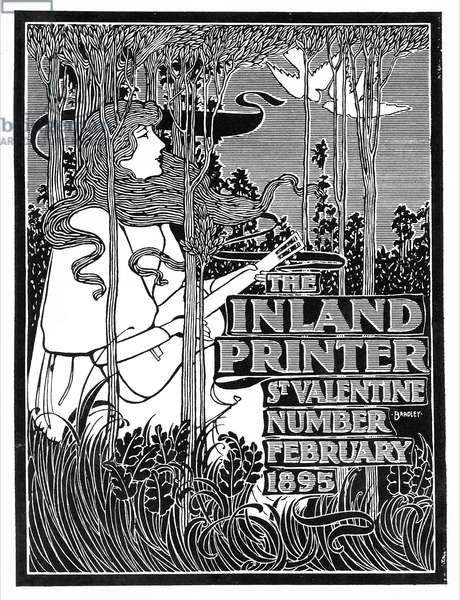 Cover of 'The Inland Printer', St. Valentine Number, February 1895 (litho)