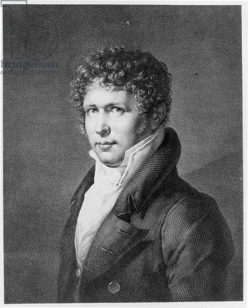Portrait of Friedrich Heinrich Alexander, Baron von Humboldt (1769-1859) (engraving) (b/w photo)