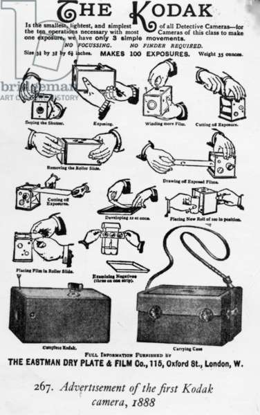 Advertisement of the first Kodak camera, 1888 (lithograph)
