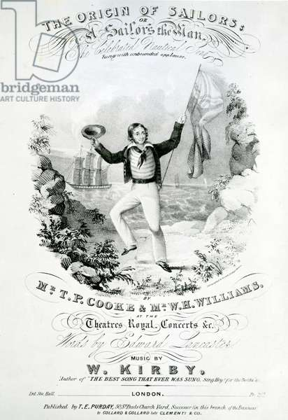 'The Origin of the Sailors, A Sailor's Mission' (lithograph)