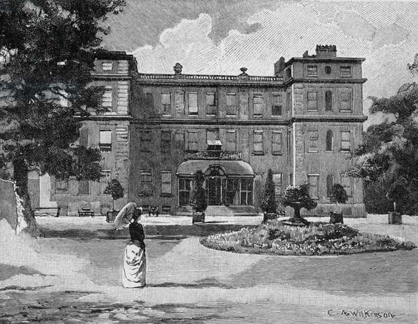 Marlborough House, from the garden, 1863 (engraving) (b/w photo)