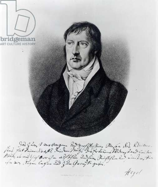 Georg Wilhelm Friedrich Hegel, engraved by F.W Bollinger, c.1825 (engraving)