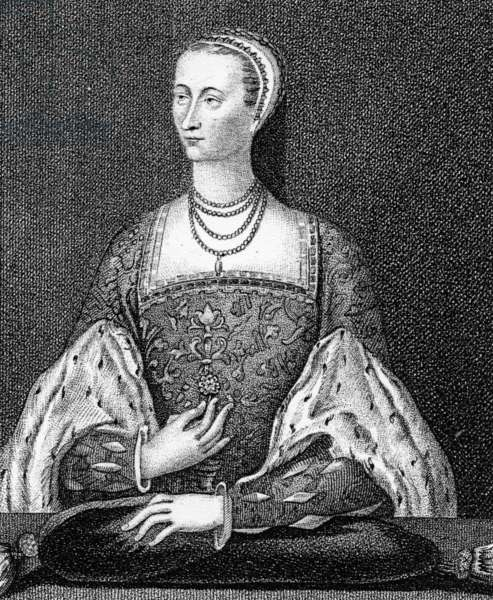 Mary of Guise, illustration from 'Iconographia Scotia, or Portraits of Illustrious Persons of Scotland' by John Pinkerton, 1794 (engraving)