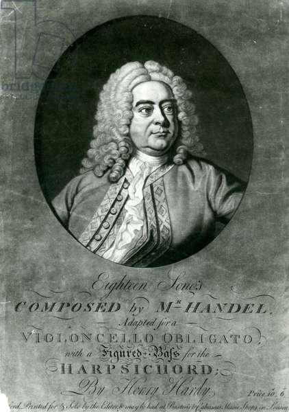 Eighteen Songs composed by Handel adapted for a Violioncello Obligato with Harpsichord by Henry Hardy (mezzotint engraving)