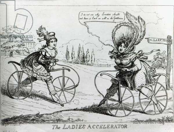 The Ladies Accelerator, 1819 (engraving)