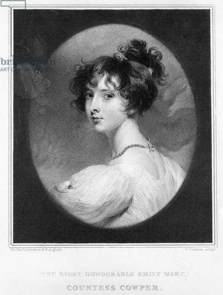 Emily Mary, Countess Cowper (litho)
