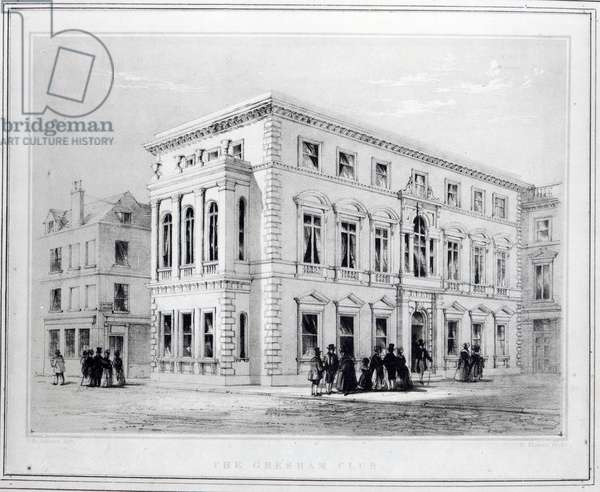 The Gresham Club, engraved by J.R Jobbins, c.1845-50 (litho)