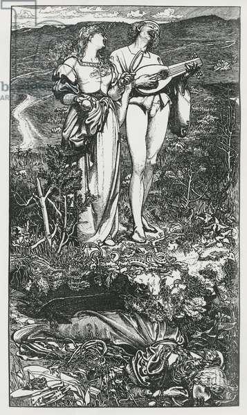 'Amor Mundi', 1865 (engraving)