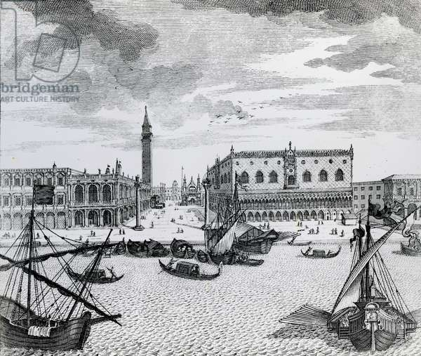 View of Piazza San Marco from the Bacino, Venice (engraving)