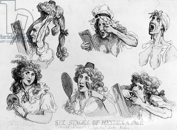 'Six Stages of Making a Face', printed by S.W. Fores, 1792 (etching)
