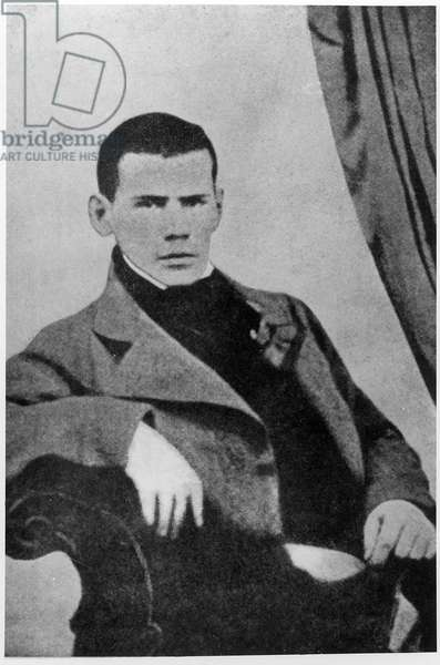 Lev Nikolaevich Tolstoy (1828-1910) as a student (b&w photo)
