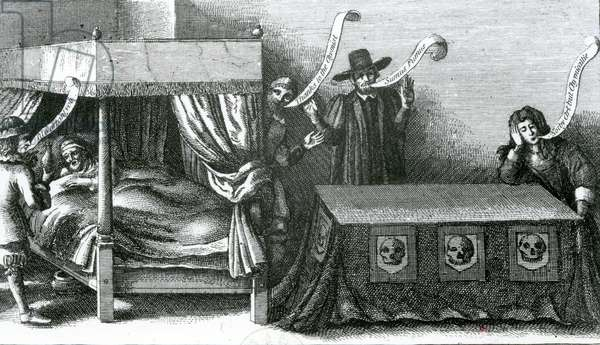 The Death of King James the First, 1625 (etching)