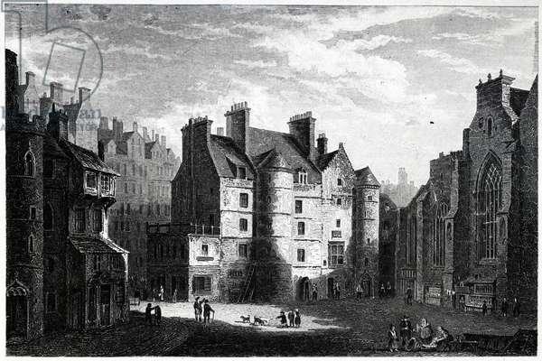 Old Tolbooth, Edinburgh, engraved by Edward Finden (1791-1857) (engraving)