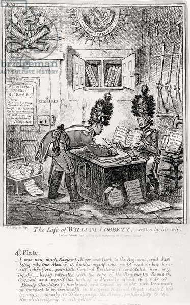Plate 4, from 'The Life of William Cobbett', written by himself, pub. by H. Humphrey, 1809 (etching) (b/w photo)