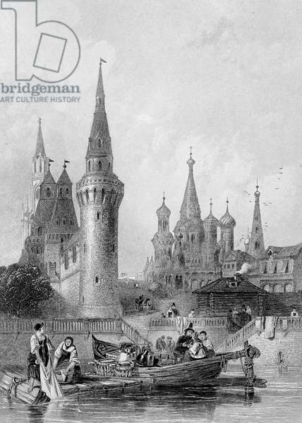The Church of Vasili Blagennoi, Moscow, engraved by J. H. Kernot, c.1844 (engraving)