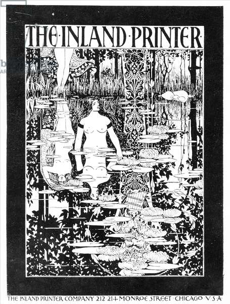 Advert for 'The Inland Printer', c.1895 (litho)