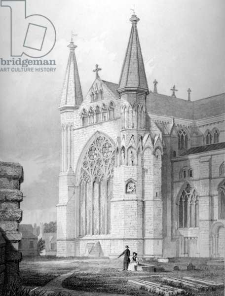North End of Durham Cathedral, 1843 (engraving)