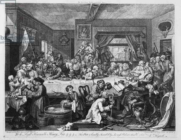 An Election Entertainment, 1755 (engraving)