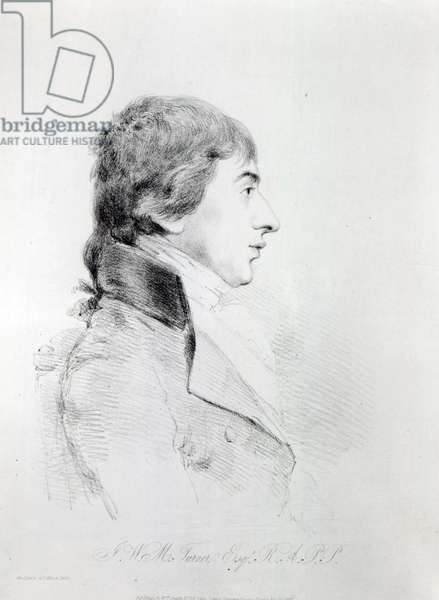 Joseph Mallord William Turner R.A, engraved by William Daniell, 1827 (etching)