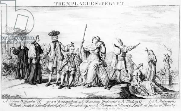 The X Plagues of Egypt, c.1749 (engraving)