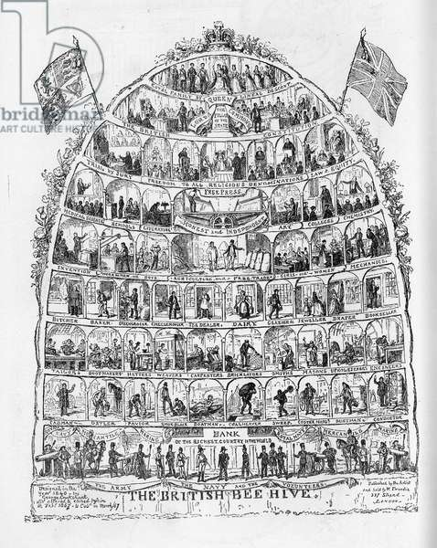 The British Beehive, 1867 (litho)
