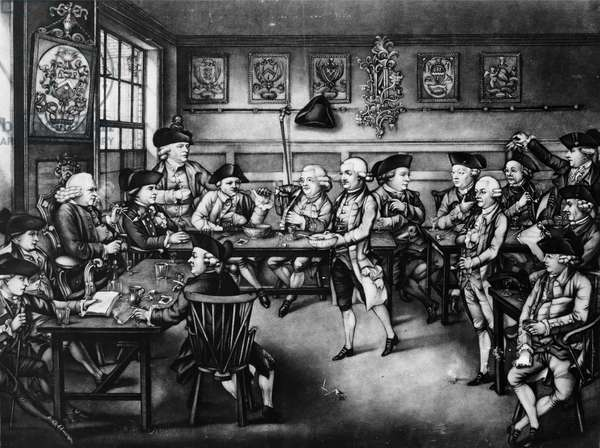 The Court of Equity or Convivial City Meeting, 1779 (mezzotint)