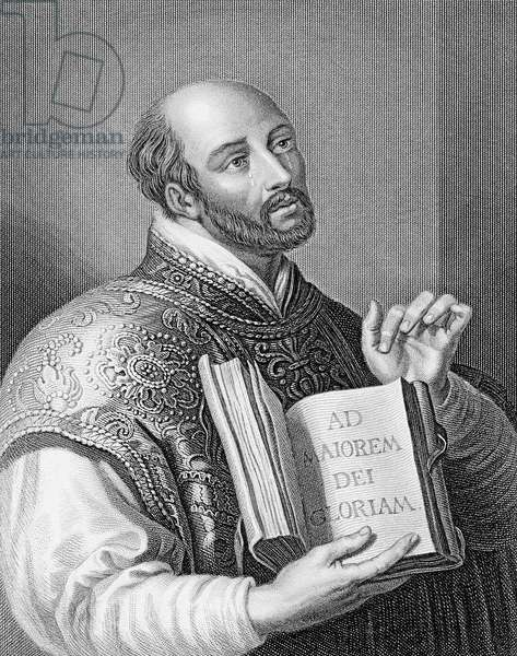Ignatius Loyola, engraved by William Holl the younger, c.1830 (engraving)