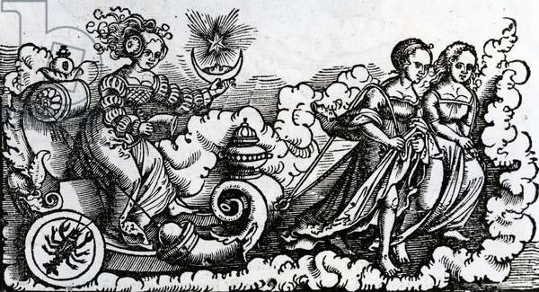 The Chariot, or the Moon in Cancer (engraving)