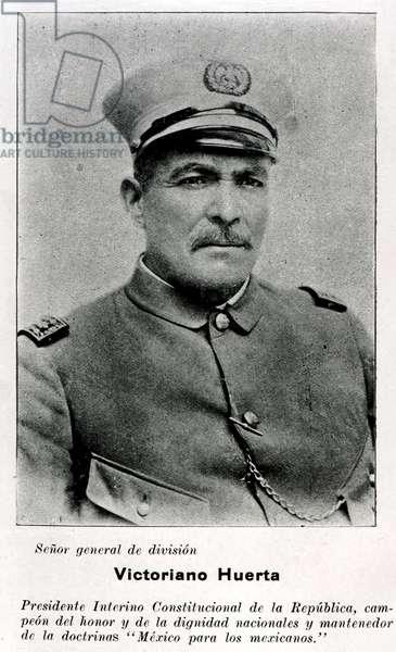 Portrait of Victoriano Huerta (b/w photo)