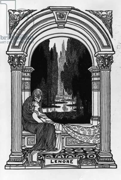 Lenore, from 'The Poems of Edgar Allan Poe', 1900 (engraving)