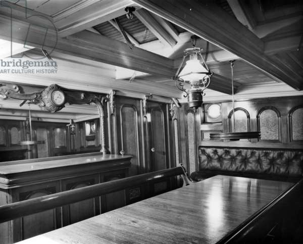 The Officer's Saloon aboard the Cutty Sark (b/w photo)