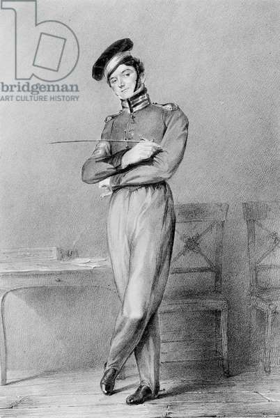 Mr Power as Corporal O'Connor in the opera 'Broken Promises', 1826 (lithograph)